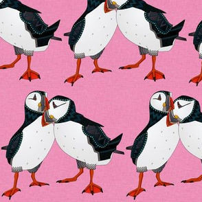 puffin pair pink