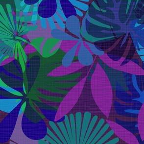 Night Jungle Purple Bright