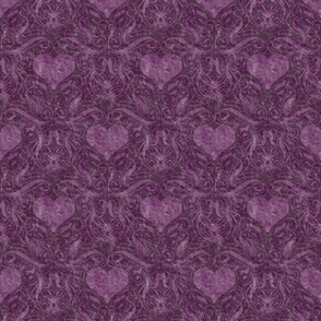 Purple Heart Damask
