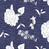 Peony_aster_and_tulip_tossed_white_silhouettes_on_blue_texture
