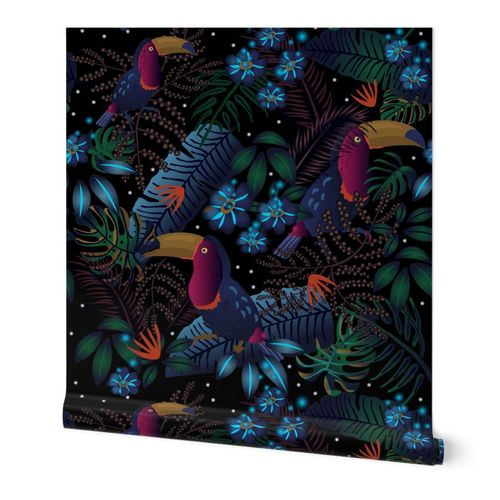 Moody Flora Tropical Wallpaper