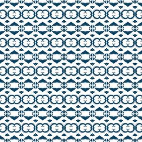 Blue on White Geometric
