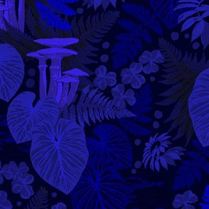 Midnight blue forest