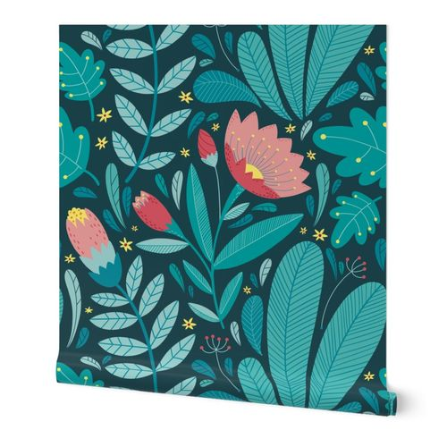 Moody Tropical Floral