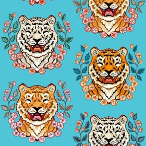 Boisterous, Blossoming, Tiger Types - Turquoise Blue