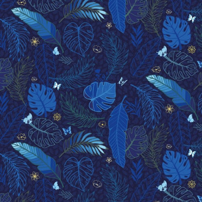 dark blue jungle night