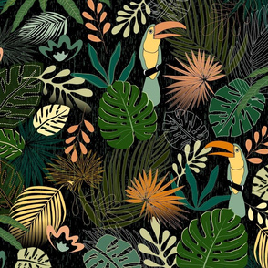 Tropical floral night