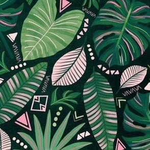 Aztec Jungle Leaves