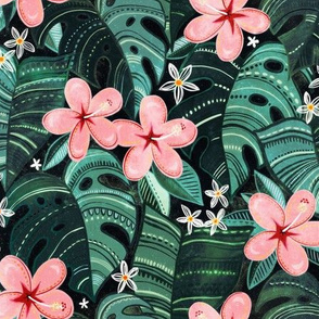Midnight Tropical Garden - medium