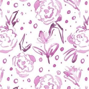 Marsala bloom in Mykonos - watercolor dainty florals - painterly flowers for modern home decor_ nursery a271-9