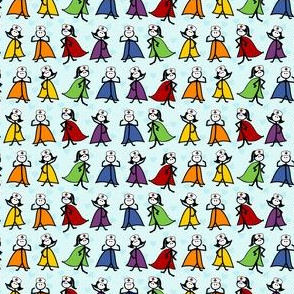Superhero Nurses - Blue Background - Small Scale