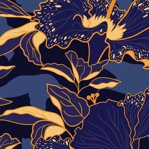 Moody Tropical Hibiscus- Jumbo