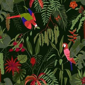 moody tropical flora