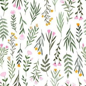 Summer Flowers - White
