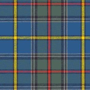 "Green MacLeod tartan, 6"" muted custom, slubbed double grey stripe"