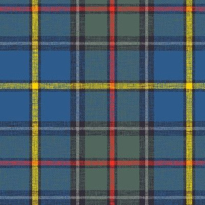 "Green MacLeod tartan, 6"" muted custom, slubbed single grey stripe"