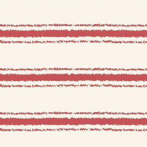 horizontal ticking stripes nantucket red medium scale