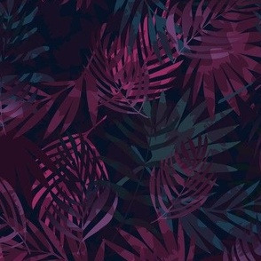 Midnight Foliage in Plum