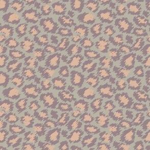 Leopard Spots - Peach and Khaki