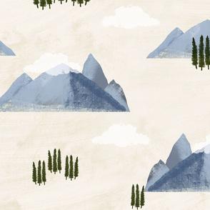 Canadian Rockies Mountains Vintage