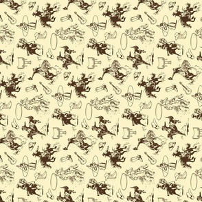 Cowboys Rodeo Horses Rotated