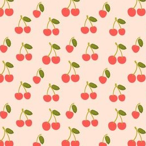 Small Cherry in Bright Red Cherries