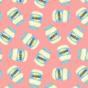 Mayonnaise - Mayo Jars - Pink - LAD21