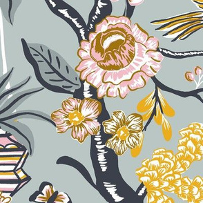 JUMBO_Birds and Bloom_Grey