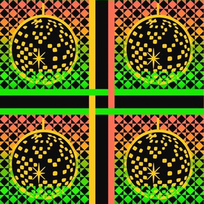 Disco plaid - orange and green