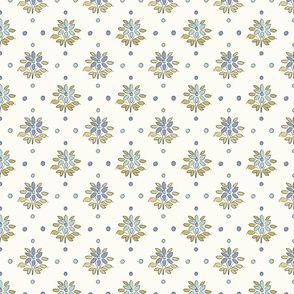 FF3 small scale ILLUSTRATED FLOWERS FEMININE FRENCH COTTAGE CORE FARMHOUSE STYLE FLORALS NURSERY  TerriConradDesigns