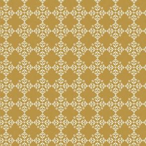 FF7 gold ivory damask bees graphic romantict emblem fleur de lis classic farmhouse style vintage inspired pattern TerriConradDesigns