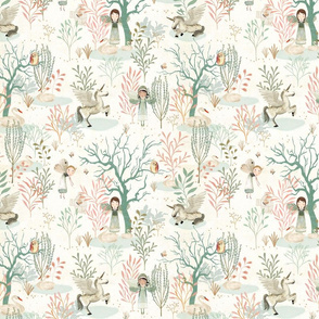 Summer forest white {small}