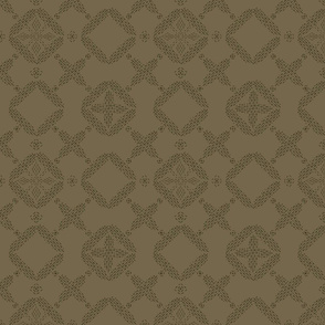 Stitched Tile - Brown - Large