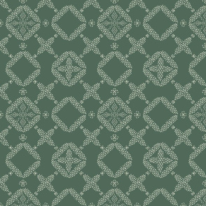 Stitched Tile - Dusty Evergreen - Large