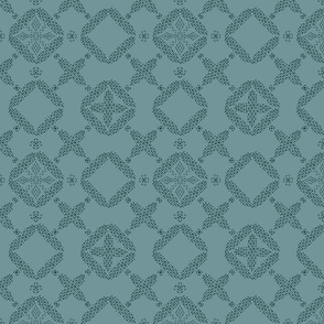 Stitched Tile - Dusty Teal - Large