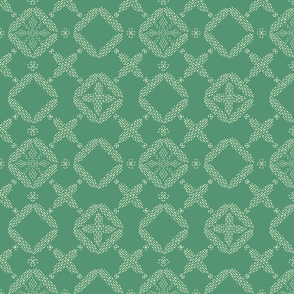 Stitched Tile - Green - Large