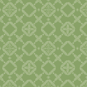 Stitched Tile - Lime - Large