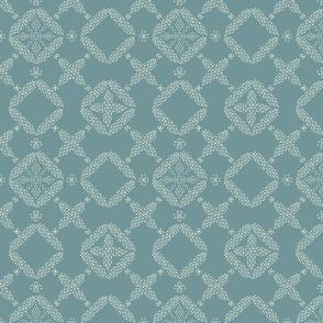 Stitched Tile - Steel Blue - Large
