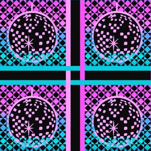 Disco plaid - blue and pink