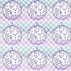 Dusty disco balls - blue