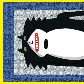 tuxedo cat tea towel