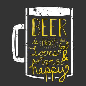 Beer Wisdom (2 Yard Panel)