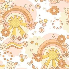 Sunset print-cotton candy