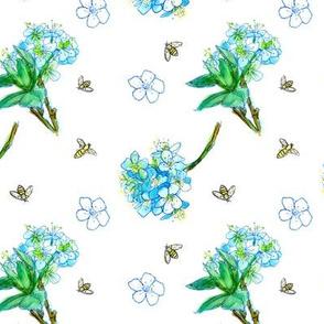 Blue Blossom Bees