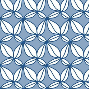 Mediterranean Retro Leaves Pattern