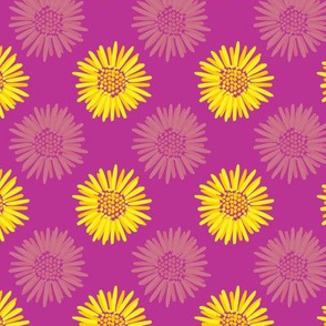Marigolds on Fuchsia Small Scale