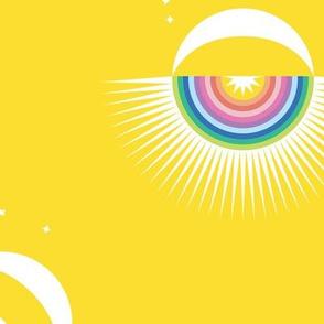 Rainbow Moon Burst Large
