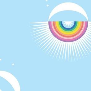 Rainbow Moon Burst Sky Large