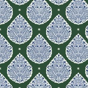 Custom egyptian Paisley green and blues