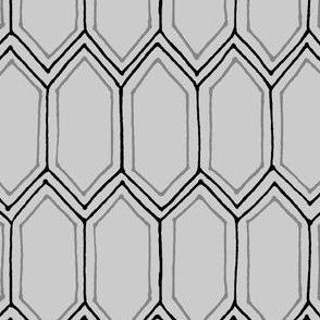 Tons Of Tiles Black /Gray